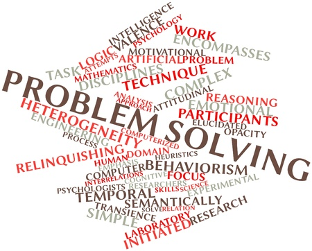 Abstract word cloud for Problem solving with related tags and terms
