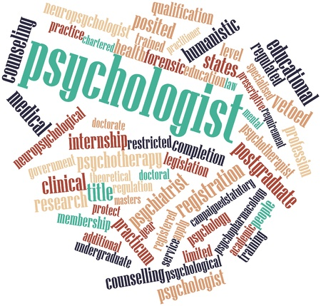 equivalent: Abstract word cloud for Psychologist with related tags and terms