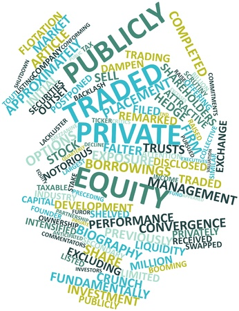 approximately: Abstract word cloud for Publicly traded private equity with related tags and terms