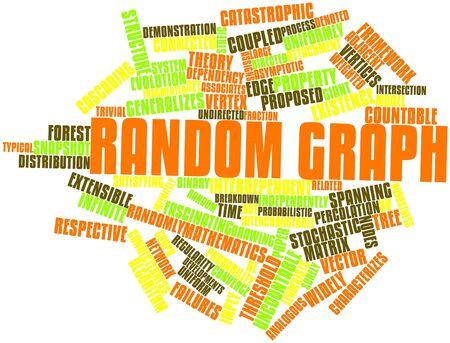 extensible: Nube de palabras gr�fico abstracto para Random con etiquetas y t�rminos relacionados Foto de archivo