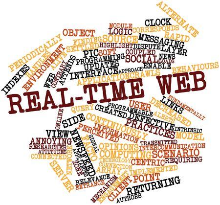 リアルタイム web 関連タグと用語の抽象的な単語の雲