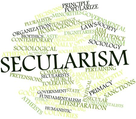 characterize: Nube palabra abstracta para secularismo con etiquetas y t�rminos relacionados