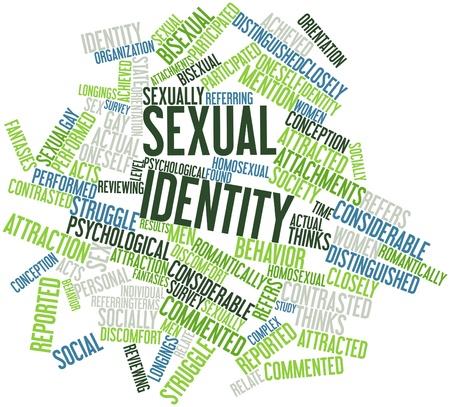 関連タグと用語で性的アイデンティティの抽象的な単語の雲
