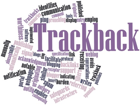 acknowledgment: Abstract word cloud for Trackback with related tags and terms Stock Photo