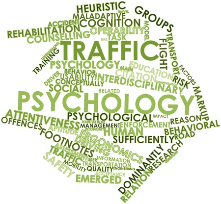 habituation: Abstract word cloud for Traffic psychology with related tags and terms