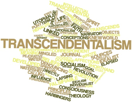 conceptions: Abstract word cloud for Transcendentalism with related tags and terms