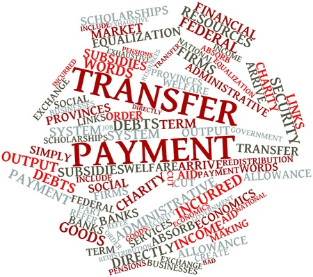 incurred: Abstract word cloud for Transfer payment with related tags and terms