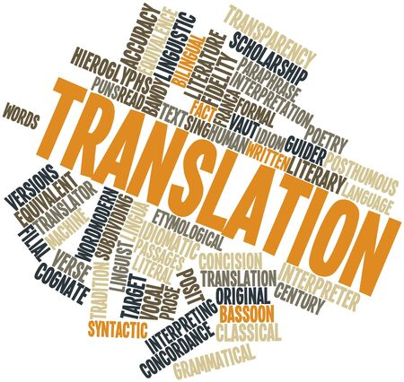 concision: Abstract word cloud for Translation with related tags and terms