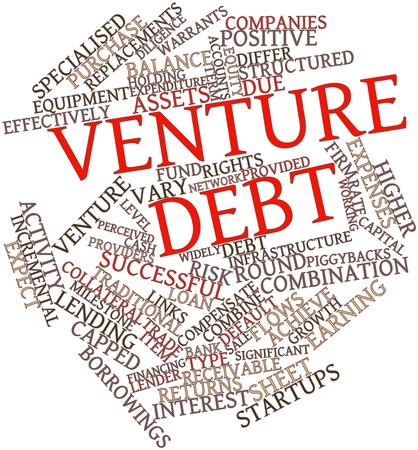 structured: Abstract word cloud for Venture debt with related tags and terms