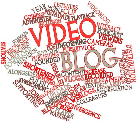 coining: Abstract word cloud for Video blog with related tags and terms