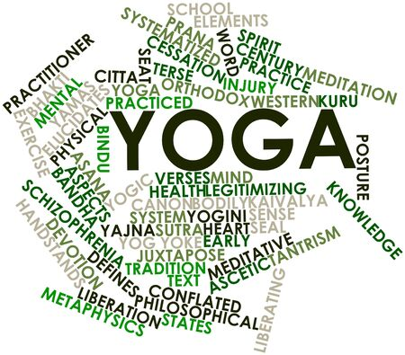 Abstract word cloud for Yoga with related tags and terms Stock Photo - 16631668