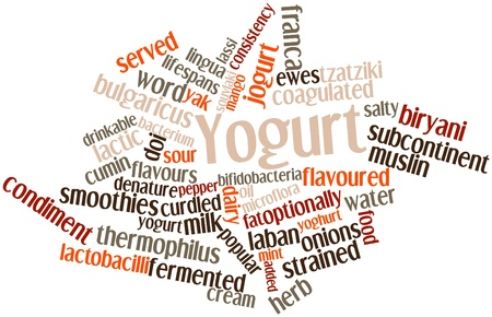 Abstract word cloud for Yogurt with related tags and terms Stock Photo - 16631091