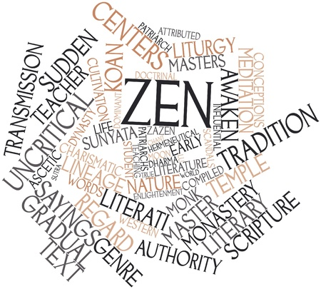 bodhisattva: Abstract word cloud for Zen with related tags and terms