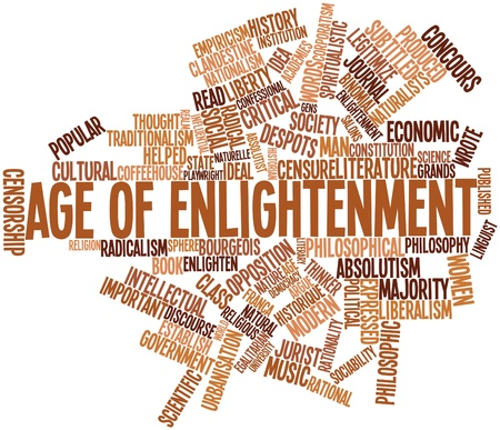 Abstract word cloud for Age of Enlightenment with related tags and terms Stock Photo - 16633180