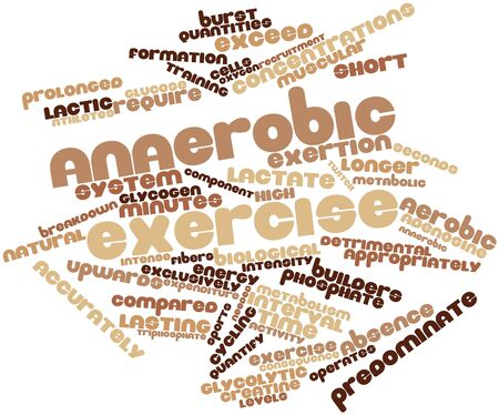mere: Abstract word cloud for Anaerobic exercise with related tags and terms Stock Photo