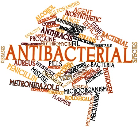 Abstract word cloud for Antibacterial with related tags and terms Stock Photo - 16632951