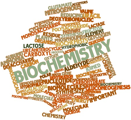 Abstract word cloud for Biochemistry with related tags and terms