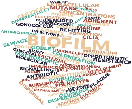 Abstract word cloud for Biofilm with related tags and terms Stock Photo - 16631567