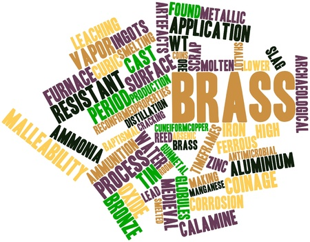 arsenic: Abstract word cloud for Brass with related tags and terms