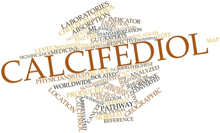 indicative: Abstract word cloud for Calcifediol with related tags and terms Stock Photo