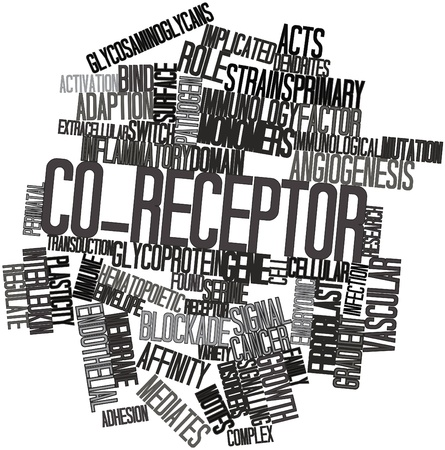 fibroblast: Abstract word cloud for Co-receptor with related tags and terms