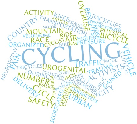 overuse: Abstract word cloud for Cycling with related tags and terms