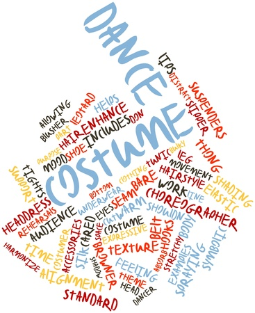 Abstract word cloud for Dance costume with related tags and terms