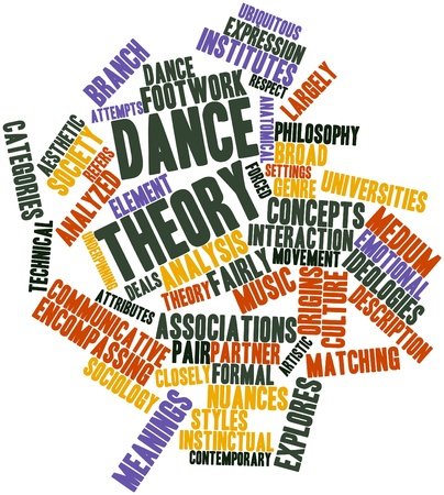 music theory: Abstract word cloud for Dance theory with related tags and terms