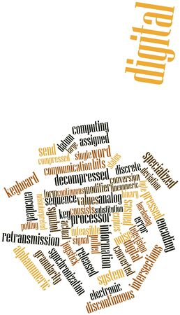 possesses: Abstract word cloud for Digital with related tags and terms Stock Photo