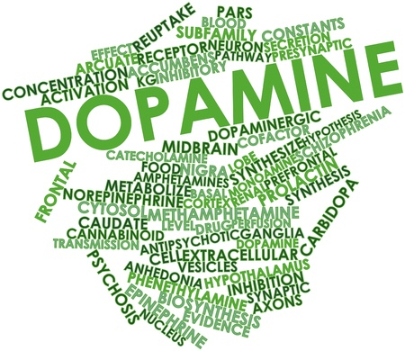 vesicles: Abstract word cloud for Dopamine with related tags and terms