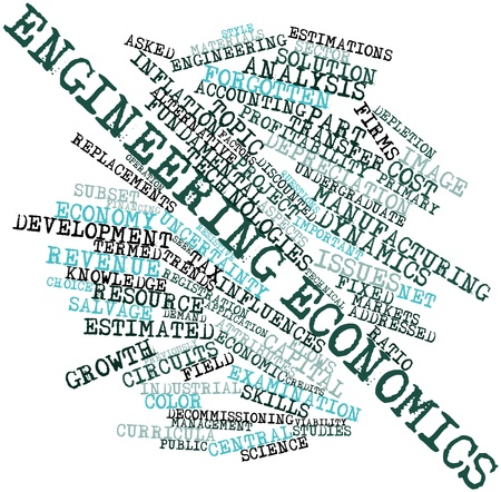 viability: Abstract word cloud for Engineering economics with related tags and terms