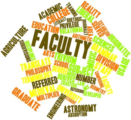 derives: Abstract word cloud for Faculty with related tags and terms