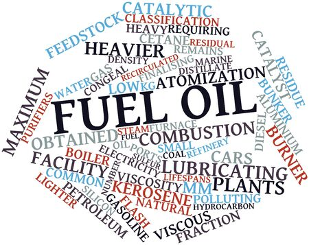 feedstock: Abstract word cloud for Fuel oil with related tags and terms