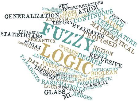 logica: Nube palabra abstracta para la lógica Fuzzy con las etiquetas y términos relacionados