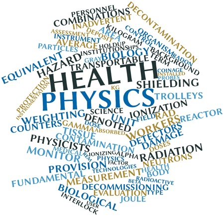 interlock: Abstract word cloud for Health physics with related tags and terms