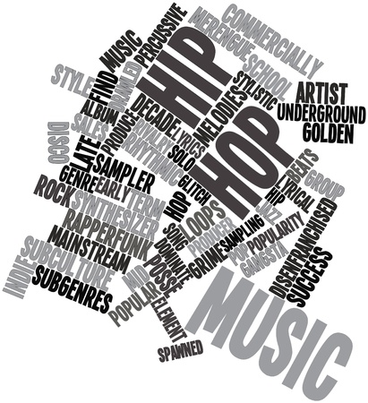 gangsta: Abstract word cloud for Hip hop music with related tags and terms