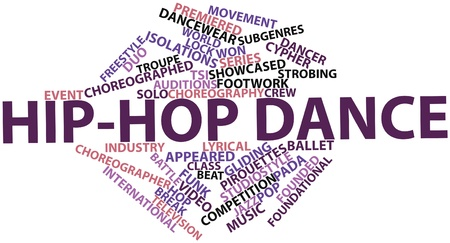 Abstract word cloud for Hip-hop dance with related tags and terms Stock Photo - 16629802