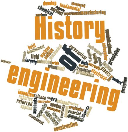 demanded: Abstract word cloud for History of engineering with related tags and terms