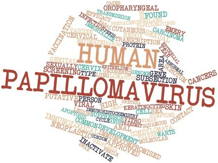 uretra: Nube palabra abstracta por virus del papiloma humano con etiquetas y t�rminos relacionados