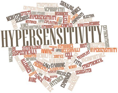 reaction: Abstract word cloud for Hypersensitivity with related tags and terms
