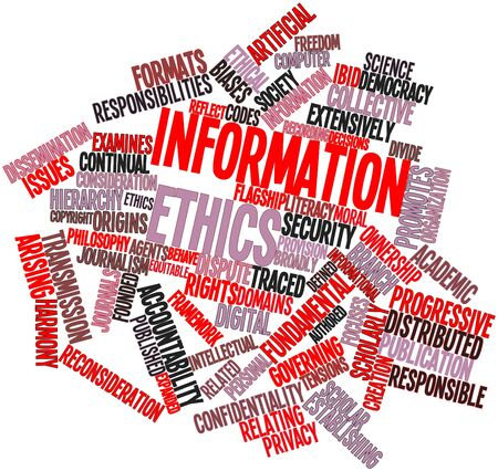 literacy: Abstract word cloud for Information ethics with related tags and terms Stock Photo