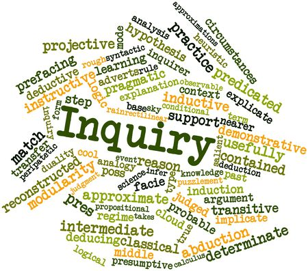 Abstract word cloud for Inquiry with related tags and terms Stock Photo - 16632847