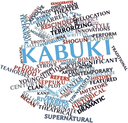 Abstract word cloud for Kabuki with related tags and terms Stock Photo - 16633331