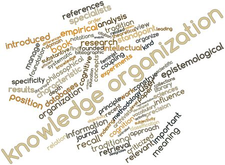 librarian: Abstract word cloud for Knowledge organization with related tags and terms