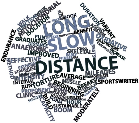oxidative: Abstract word cloud for Long slow distance with related tags and terms