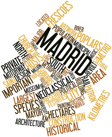 Abstract word cloud for Madrid with related tags and terms Stock Photo - 16632932