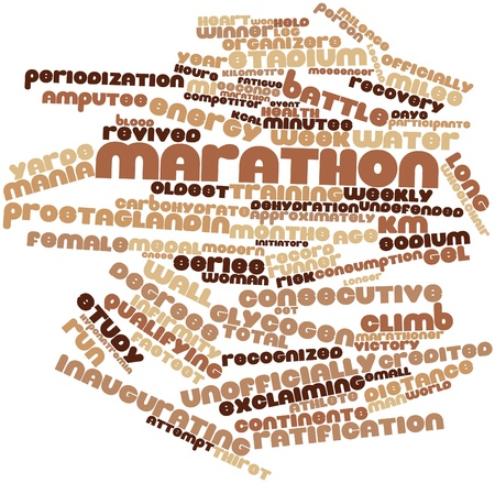 credited: Abstract word cloud for Marathon with related tags and terms