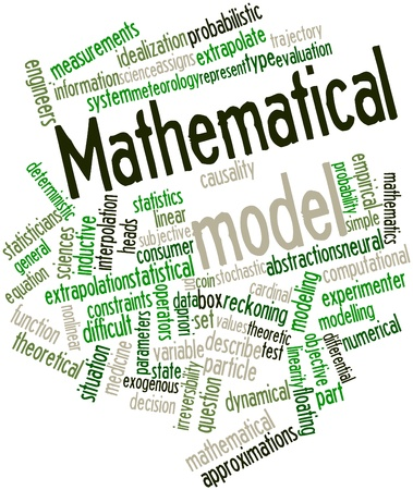 Abstract word cloud for Mathematical model with related tags and terms Stock Photo - 16632795