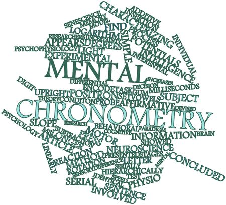 characterizing: Abstract word cloud for Mental chronometry with related tags and terms