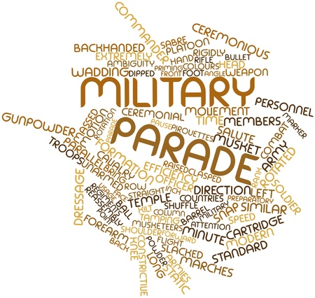 Abstract word cloud for Military parade with related tags and terms Stock Photo - 16632430